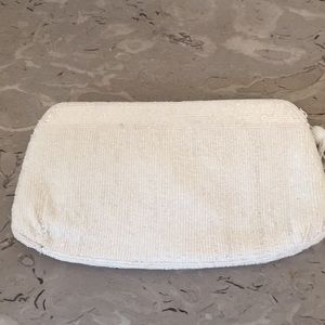 Ivory beaded clutch purse and sequined coin purse